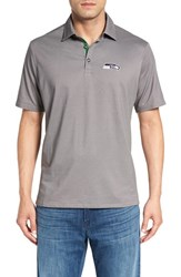 Tommy Bahama Men's 'Nfl Double Eagle Spectator' Bird's Eye Polo Seahawks