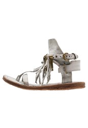 A.S.98 Ramos Tbar Sandals Roccia Light Grey