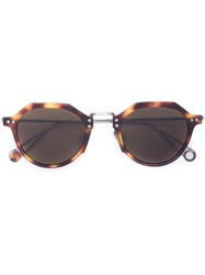 Ahlem Classic Tortoiseshell Effect Sunglasses Brown