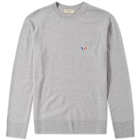 Maison Kitsune Virgin Wool Crew Knit Grey