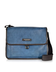 The Bridge Urban Blue Leather Messenger Bag