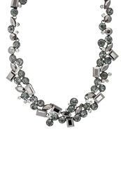Sweet Deluxe Dorette Necklace Gunmetal Black Crystal