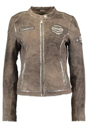 Freaky Nation Fast N Furious Leather Jacket Grey