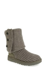 Uggr Women's Ugg 'Classic Cardy Ii' Knit Boot Grey Fabric