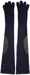 Maison Martin Margiela Navy Long Gauge 7 Gloves
