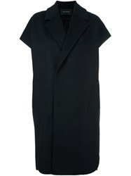 Cedric Charlier Sleeveless Coat Blue
