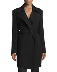 Cnc Costume National Notched Collar Belted Trench Coat Black Women's