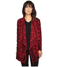 Lucky Brand Aztec Wrap Red Multi Women's Clothing