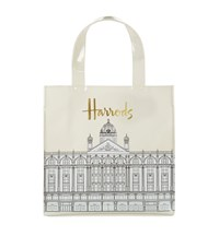Harrods Small Illustrated Building Shopper Bag Unisex