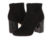 Michael Michael Kors Arabella Ankle Boot Black Kid Suede Jet Women's Pull On Boots