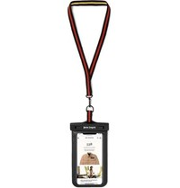 Palm Angels Logo Print Pvc And Faux Leather Smartphone Lanyard Case Black