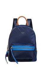 Tory Burch Perry Nylon Colorblock Backpack Royal Navy