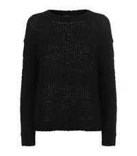 Vince Textured Knit Sweater Female Black