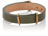 Giles And Brother Leather Visor Cuff Green