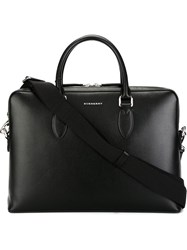 Burberry Logo Plaque Briefcase Black