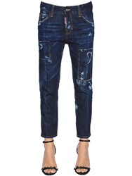 Dsquared Scratched Cool Girl Cropped Denim Jeans