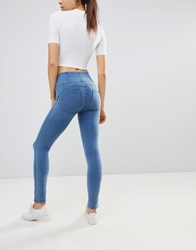 Freddy Wr.Up High Waist Shaping Effect Skinny Jean Light Blue
