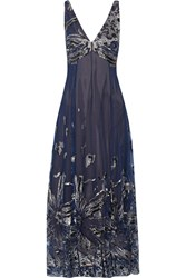 Marchesa Embellished Tulle Maxi Dress