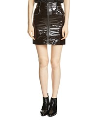 Maje Jacko Patent Leather Skirt Black