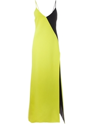 Fausto Puglisi Colour Block Evening Dress Green