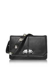 Carven Genuine Leather Shoulder Bag Black