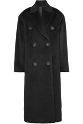 Acne Studios Octania Oversized Double Breasted Alpaca And Wool Blend Coat Black