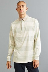 Urban Outfitters Uo Archie Striped Rugby Shirt Green