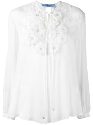 Blumarine Embroidered Blouse White