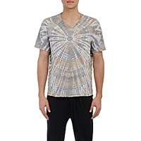 Raquel Allegra Men's Tie Dyed T Shirt Grey