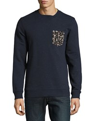 Jack And Jones Patch Pocket Pullover Navy Blaze