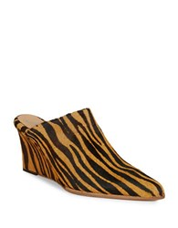 Free People Galactica Calf Hair Mule Wedges Brown