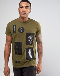 Religion T Shirt With Patches Khaki Green
