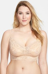 Plus Size Women's Cosabella 'Never Say Never Sweetie' Bralette Blush