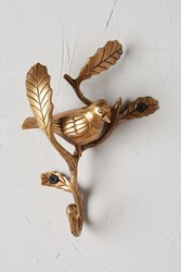 Anthropologie Underbrush Bird Hook Gold