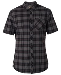 Fox Men's Ash Plaid Button Up Shirt Black