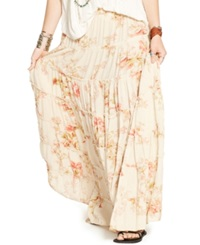 Denim And Supply Ralph Lauren Floral Print Tiered Maxi Skirt Savannah Floral