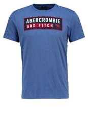 Abercrombie And Fitch Retro Tech Muscle Fit Print Tshirt Med Blue Dark Blue