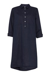 Great Plains Lara Linen Patch Pocket Tunic Navy