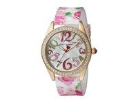 Betsey Johnson Bj00048 180 Rose Print Silicone Gold Watches