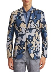 Saks Fifth Avenue X Traiano Camouflage Explorer Blazer Multi