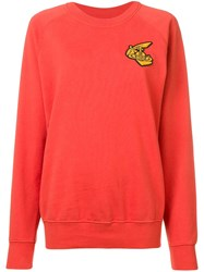 Vivienne Westwood Anglomania Logo Patch Jumper Red