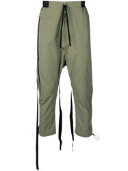 Unravel Project Dropped Crotch Trousers Green