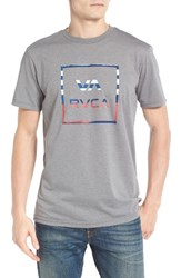 Rvca Men's Graphic T Shirt Grey Noise
