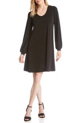 Karen Kane Harper Blouson Sleeve Shift Dress Black