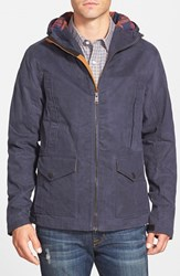 Men's Timberland 'Mount Davis' Waxed Cotton Hooded Jacket