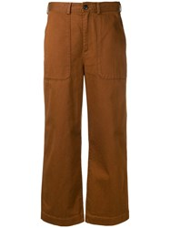 Bellerose Cropped Tailored Trousers Brown