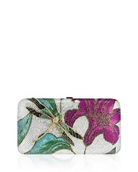 Judith Leiber Lily And Dragonfly Crystal Minaudiere Multi