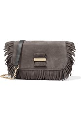 See By Chloe Rosita Small Fringed Suede And Textured Leather Shoulder Bag