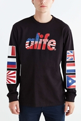 Alife Infinity Flag Long Sleeve Tee Black