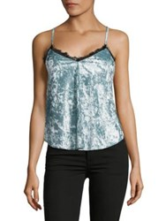 Design Lab Lord And Taylor Scalloped V Neck Sleeveless Top Champagne